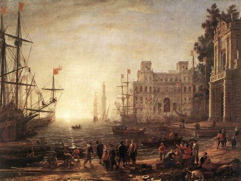 1023px-Claude_Lorrain_-_Port_Scene_with_the_Villa_Medici_-_WGA04978